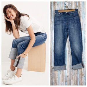 Madewell 28 Ultra High Rise Rigid Straight Jeans